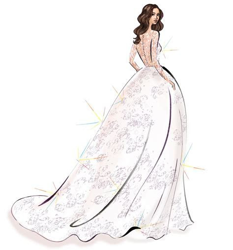 Meghan Markle's Wedding Dress Sketches   POPSUGAR Fashion