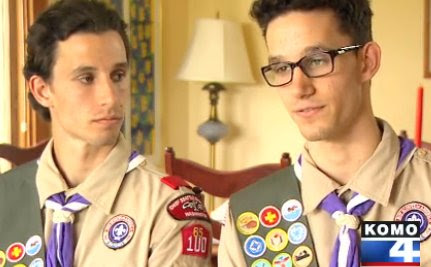 Gay Eagle Scout Will Be Booted, But His Straight Twin Can Stay