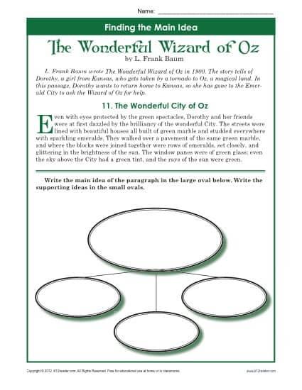 wizard-of-oz-main-idea