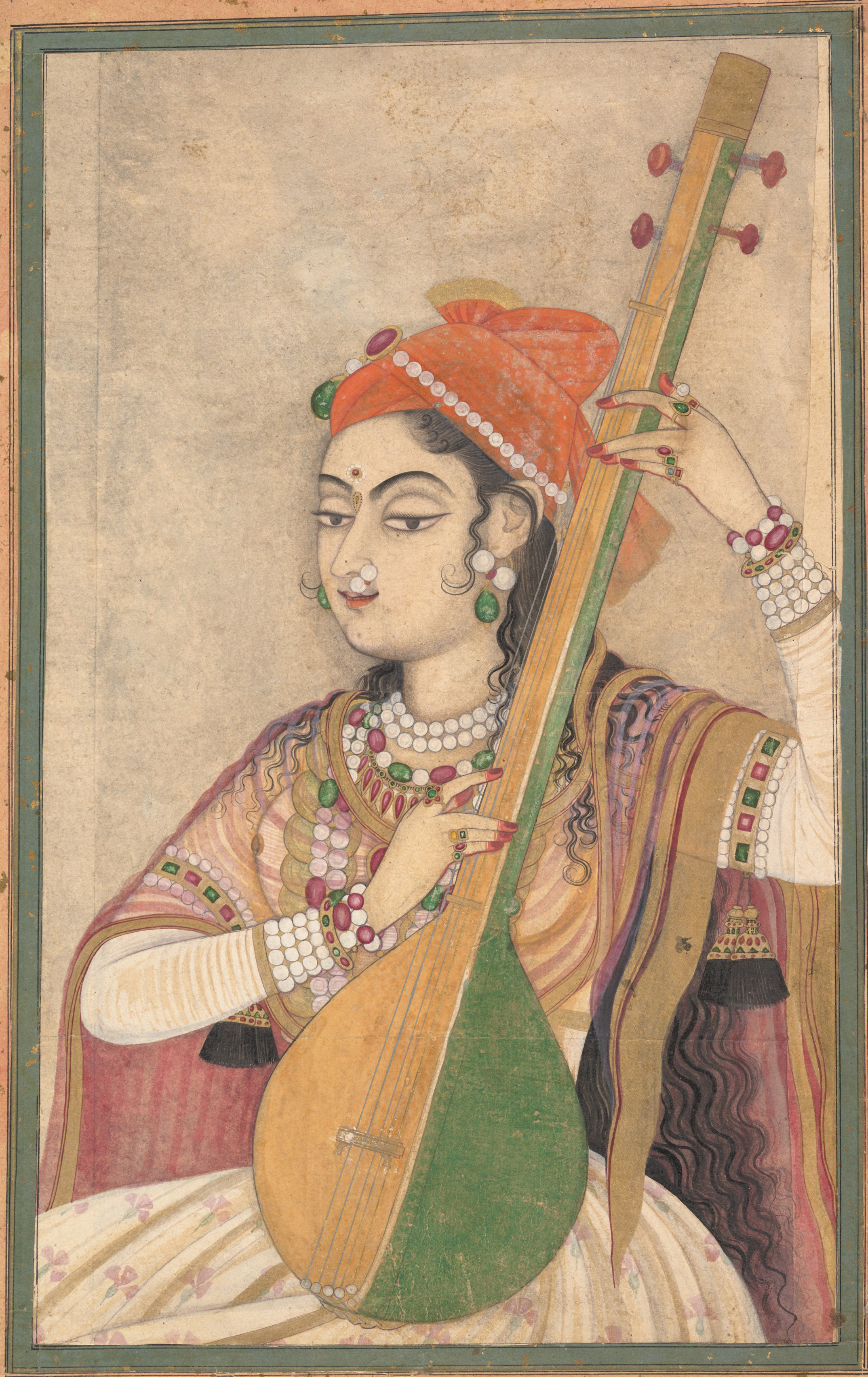 http://upload.wikimedia.org/wikipedia/commons/1/13/A_Lady_Playing_the_Tanpura,_ca._1735.jpg