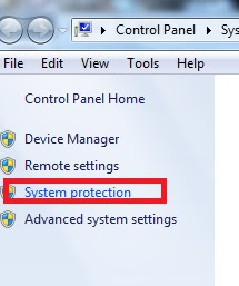 Windows 7 System protection
