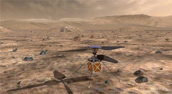 NASA quer enviar helicóptero a Marte