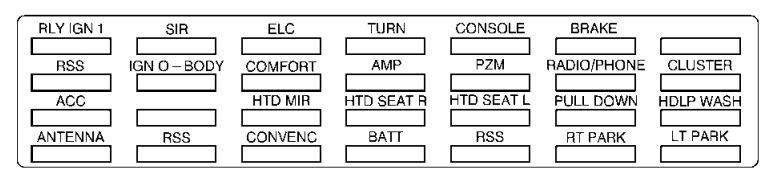 Cadillac Eldorado 1999 Fuse Box Diagram Auto Genius