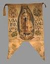 Estandarte del Primer Ejército Insurgente, con la imagen de la Virgen de Guadalupe, patrona de México.