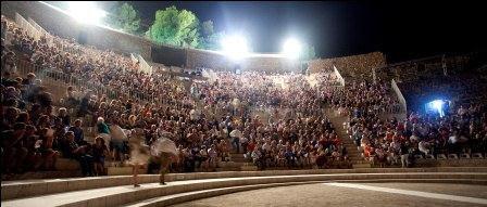 Asistentes al Teatro Romano de Sagunto este año. Foto: EPDA