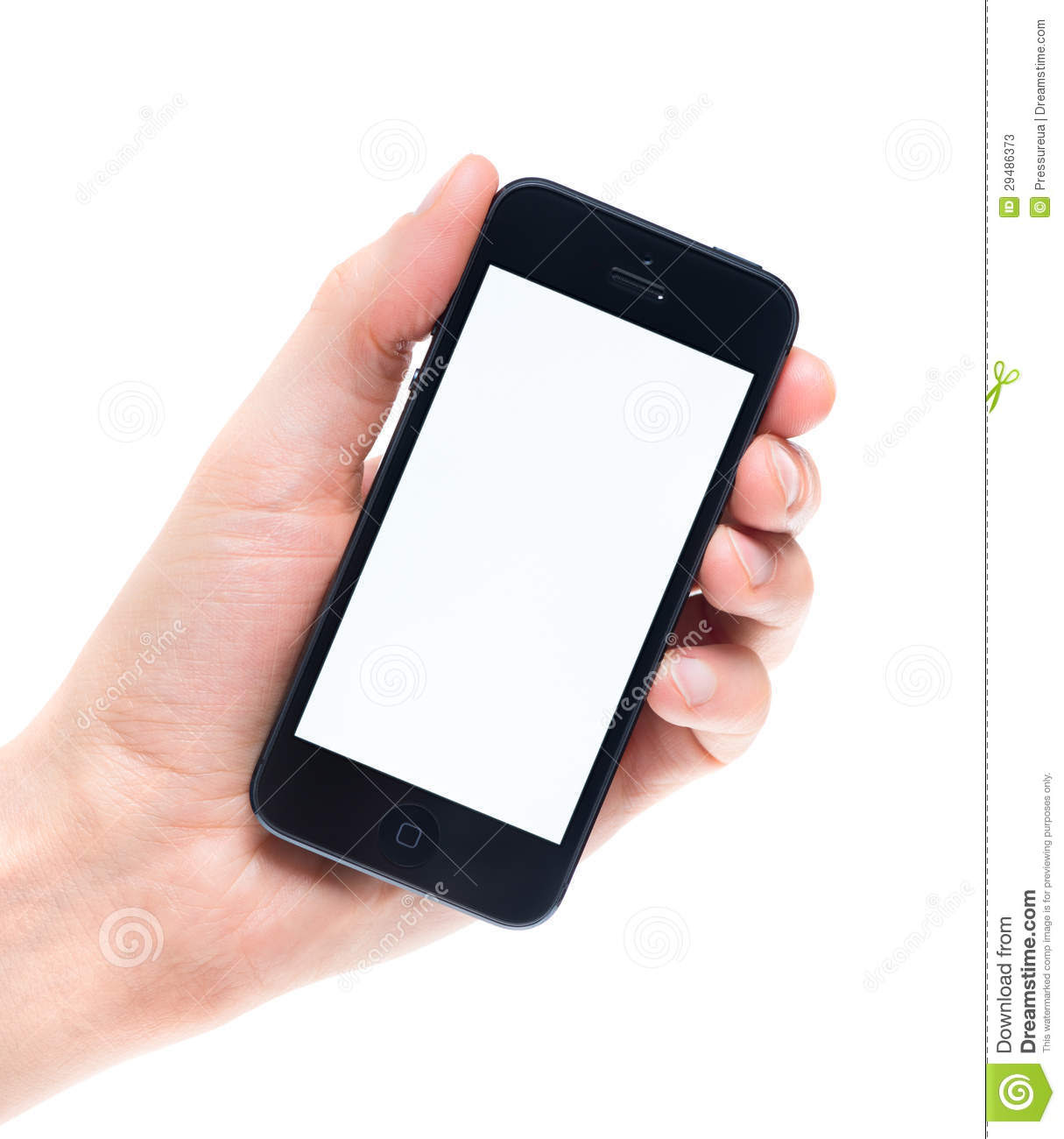 Blank Apple IPhone 5 In Hand Editorial Stock Photo - Image: 29486373