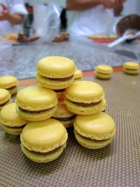 Paasion_Fruit_Macarons_with_chocolate_ganache_filling