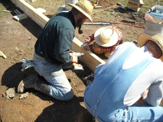 Setting Screws in Plywood in Foundation Built-up Beam