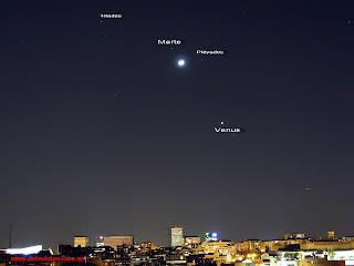 Tres planetas en las noches julio