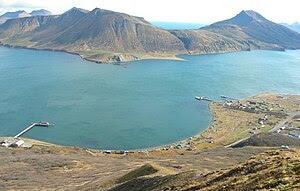 English: False Pass, Alaska on Unimak Island, ...