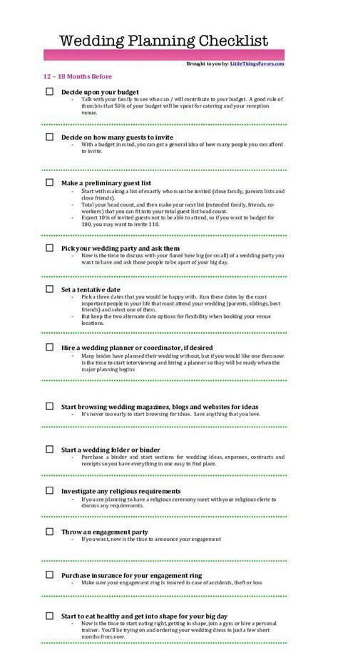 One Year Until Wedding Quotes ? 12 Month Wedding Checklist