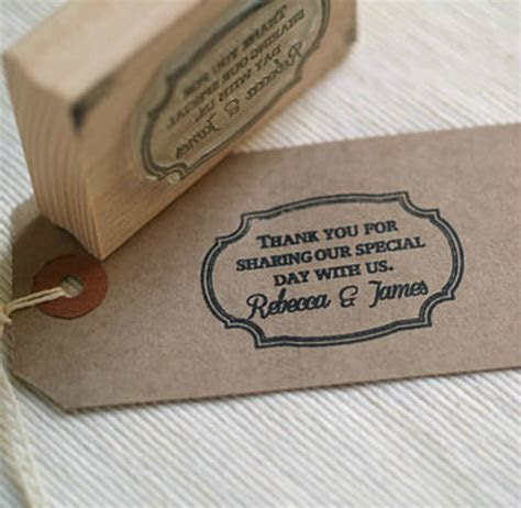 frame design wedding favour stamp by pretty rubber stamps