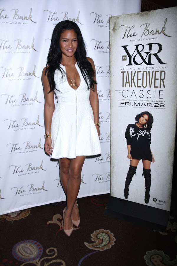 Cassie hosts 'Young & Reckless Clothing' Spring Break Takeover at The Bank Nightclub in Las Vegas