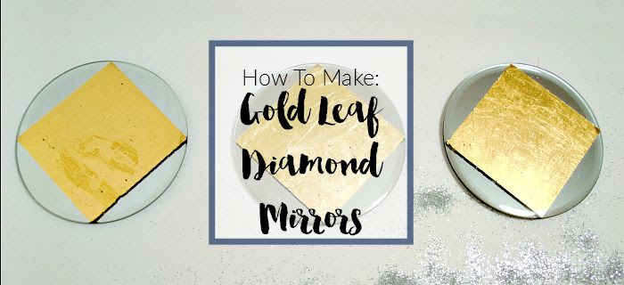 Gold Leaf Diamond Mirrors