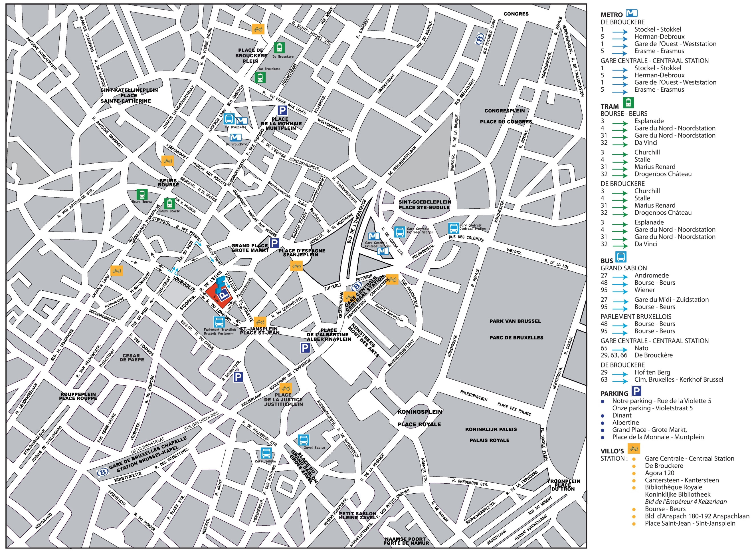 brussels city center map