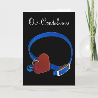 Blue Collar, Red Heart Cat Love card