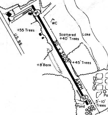 Piney Woods Airport, as depicted in the 1978 TX Airport Directory (c**rt*sy