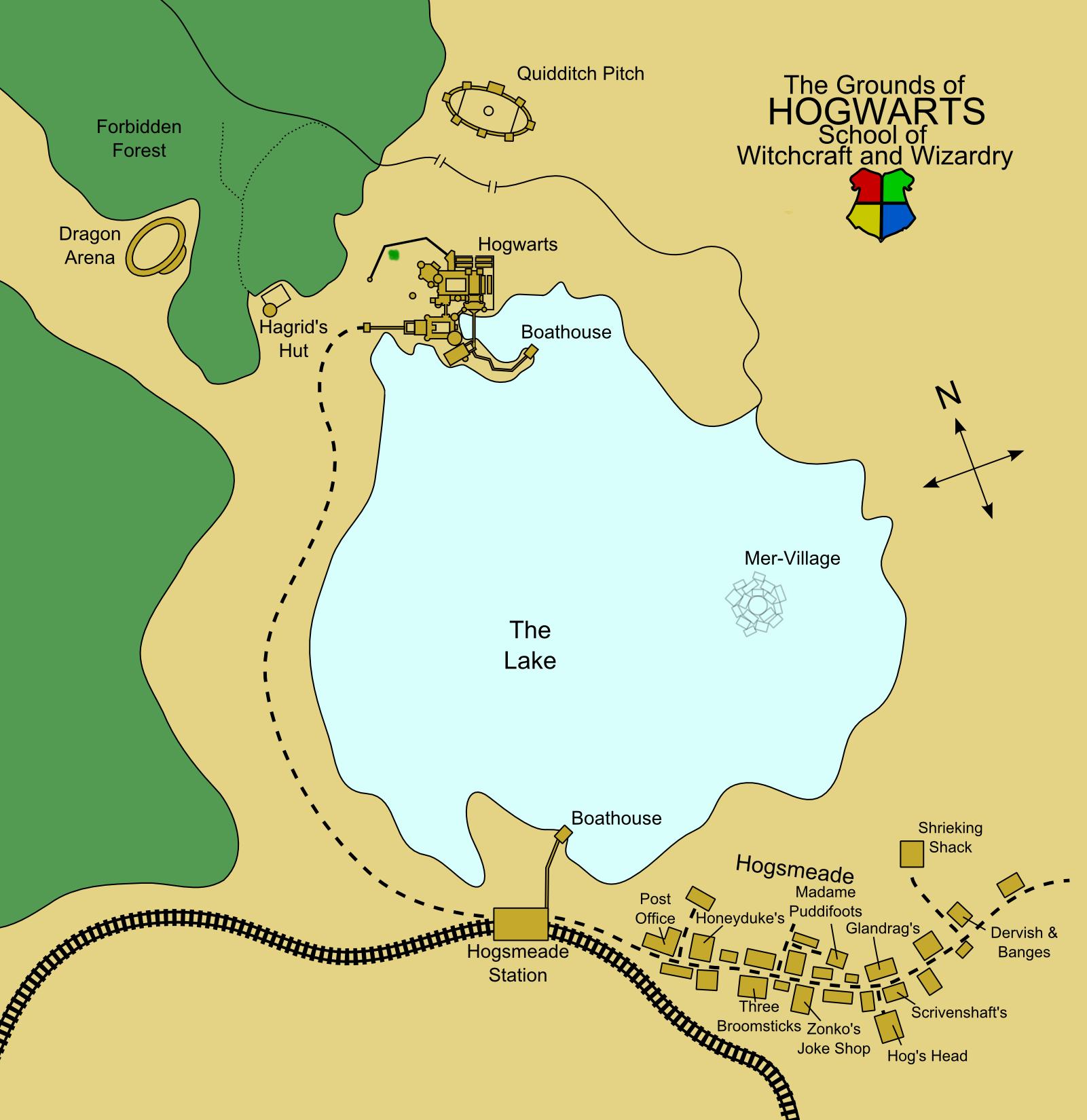 Risultati immagini per hogwarts and hogsmeade map