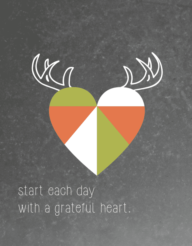 Start Each Day With a Grateful Heart Printable