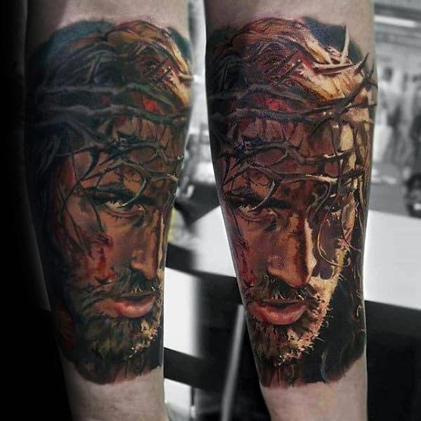 50 Jesus Forearm Tattoo Designs For Men Christ Ink Ideas
