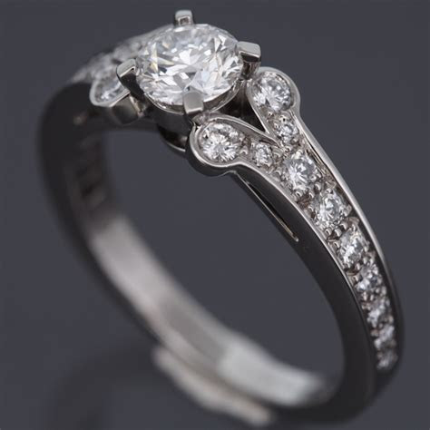 CARTIER PLATINUM 950 BALLERINE SOLITAIRE 0.57 CT DIAMOND