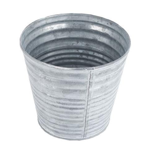 Round Galvanized Pot   Baskets, Buckets, & Boxes   Home Decor