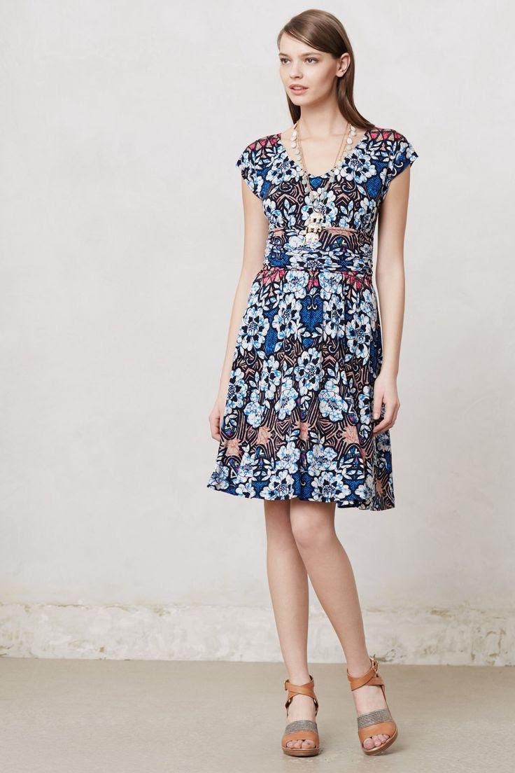 Batik Gardenia Dress Anthropologie com My Style