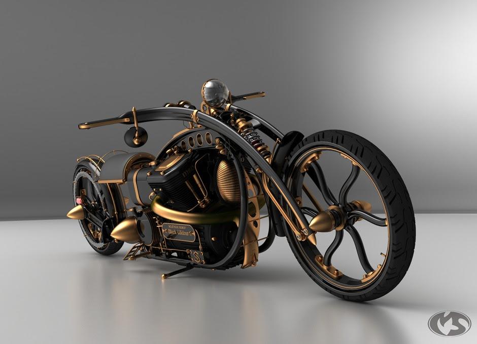 steampunkchopper thumb Black Widow Steampunk Chopper Extreme Custom Motorcycle Mod