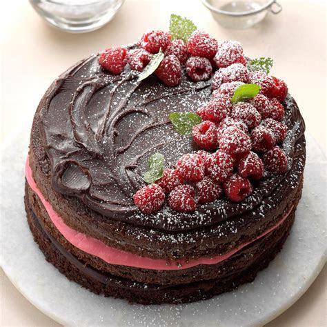 Raspberry Fudge Torte Recipe   Taste of Home