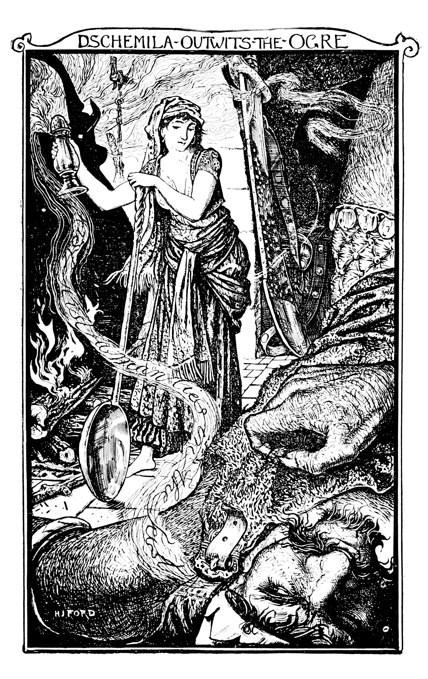 Henry Justice Ford - The grey fairy book edited by Andrew Lang , 1905 (illustration 2)
