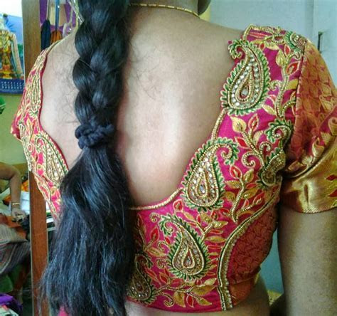 South Indian Bridal Blouse Back Design   Toffee Art