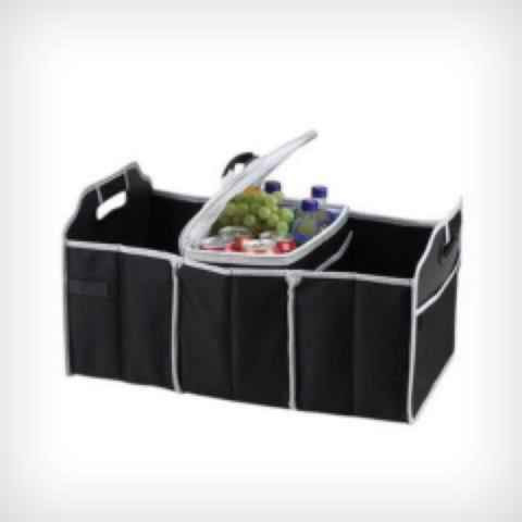 Stay Cool Trunk Caddy Organizer with Removable Cooler