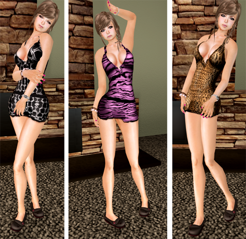 NEW! DYN Patterned Mini Dresses