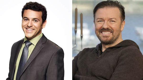 Fred Savage and Ricky Gervais