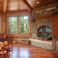 More Standout Corner Fireplace Designs . . . Bricks & Stones!