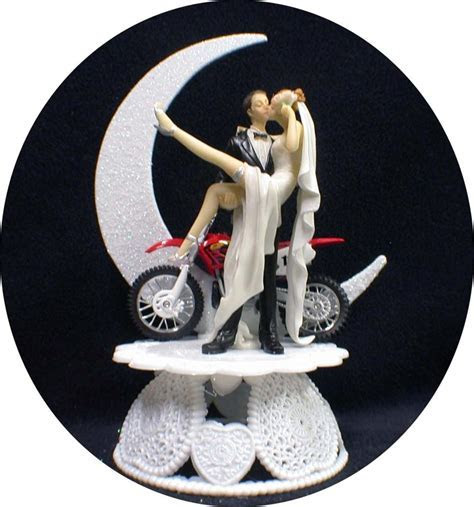 SEXY Off Road Dirt Bike Motorcycle wedding Cake topper