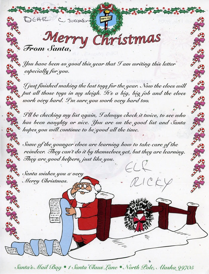 35 Santa Claus Reply Letter Template Santa Claus Letter Reply Template