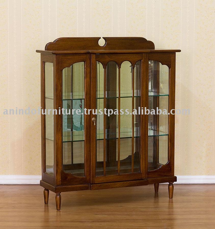 Living Room Furniture - Display Glass Cabinet 1 Door Photo ...