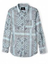 D&g Blue Bandana Print Slim Brad Shirt