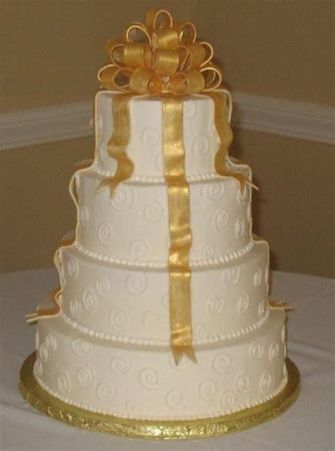 Ivory Wedding   Gold Wedding Cake #2055469   Weddbook