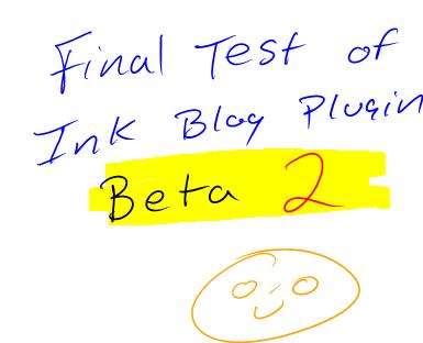Ink blog pluging beta 2