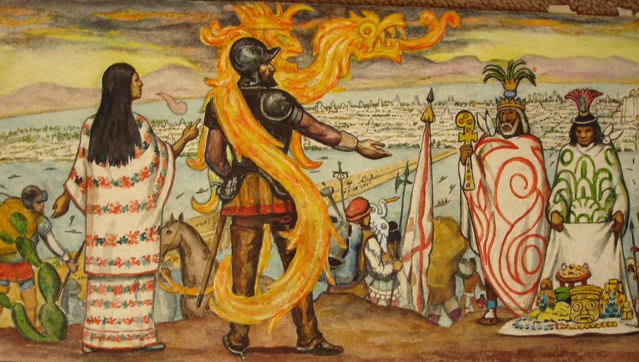 Malinche y Cortés