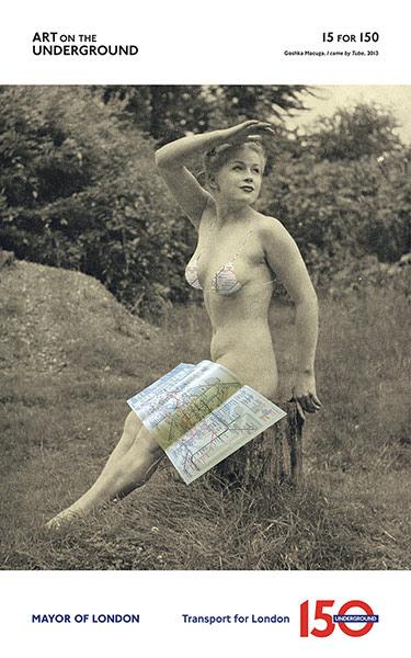 London Underground poster: Goshka Macuga