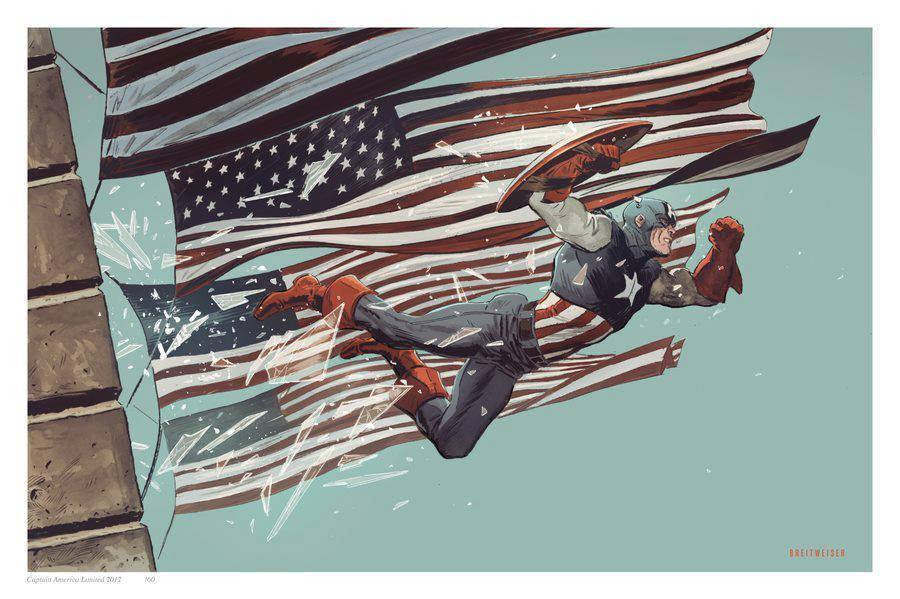 Captain America by Mitch Breitweiser
