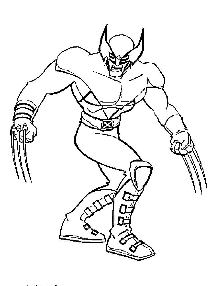 Wolverine Para Colorear Pintar E Imprimir