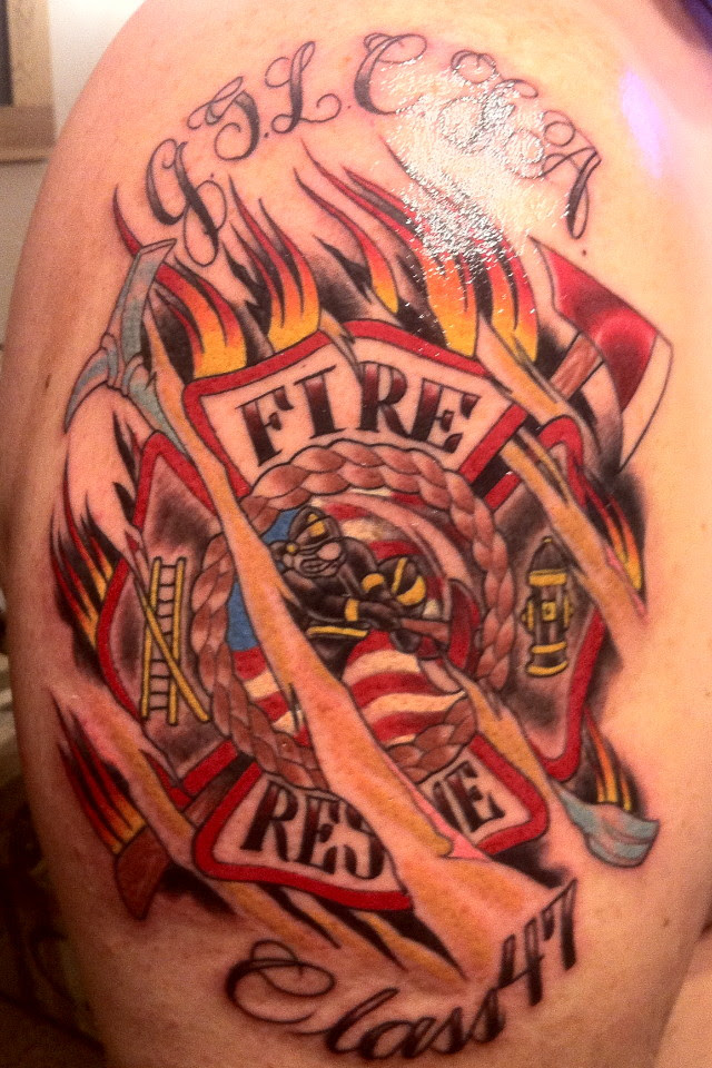 Firefighter Tattoo Images & Designs