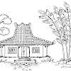 Kumpulan Gambar Pemandangan Rumah Hitam Putih