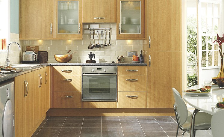 Metro Bevelled Cream Kitchen - International Tiles