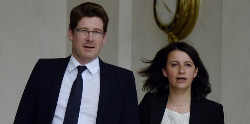 Pascal Canfin et Cécile Duflot, le 19 juin 2013. (AFP PHOTO / BERTRAND GUAY)