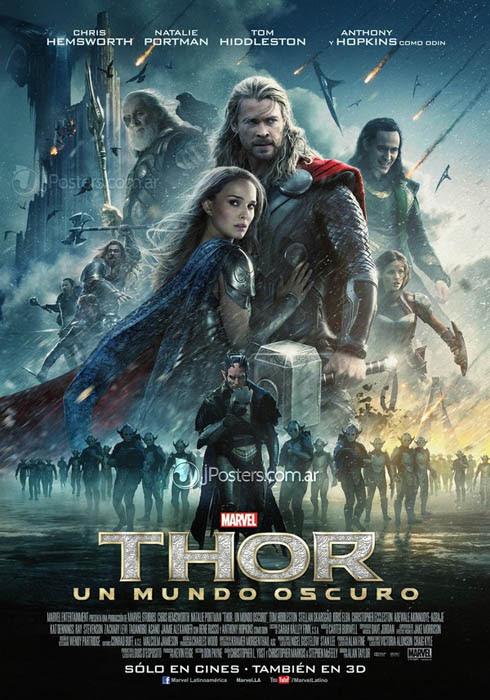 póster de Thor un mundo oscuro